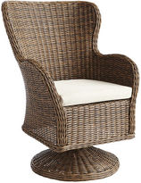 Pier 1 Imports Capella Island Walnut Brown Swivel Dining Chair