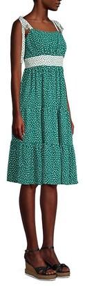 BCBGeneration Dot-Print Empire Dress