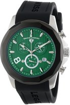 Swiss Legend Men's 10042-08-BB Monte Carlo Chronograph Textured Dial Black Silicone Watch