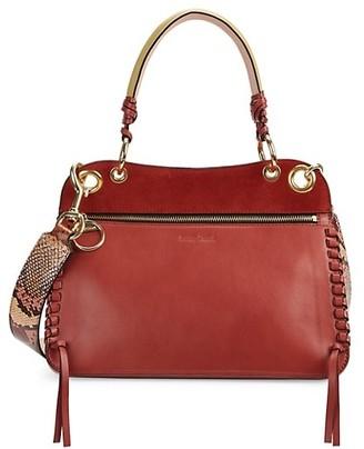 See by Chloe Tilda SBC Snake-Print Strap Leather Bag