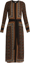 A.L.C. Isaacs scarf-print silk dress
