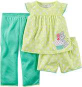 Carter's 3-pc. Yellow Dot Pajama Set - Preschool Girls 4-7