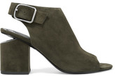 Alexander Wang Nadia Cutout Suede Slingback Sandals - Army green