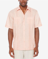 Cubavera Men's Big & Tall Linen Blend Embroidered Pintuck Shirt