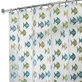 "InterDesign Fishy Soft-Touch PEVA Shower Curtain - Blue/Green (72"" x 72"")"