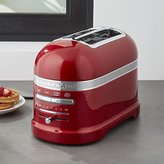 Crate & Barrel KitchenAid ® Pro Line Candy Apple Red 2-Slice Automatic Toaster