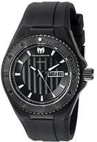 Technomarine Men's Quartz Watch with Black Dial Analogue Display and Black Silicone Strap TM-115168