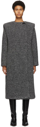 Isabel Marant Grey Gelton Coat