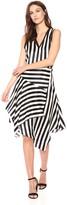 Nicole Miller Women's Getaway Stripe Asymmetrical Dress