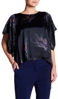 Amanda Uprichard Effie Split Back Silk Blouse