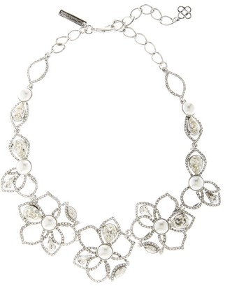 Oscar de la Renta Pave Petal Necklace