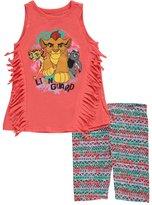 "Disney The Lion Guard Little Girls' Toddler ""Fringe Trim"" 2-Piece Outfit"