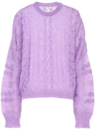 Miu Miu Mohair and wool-blend sweater