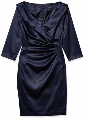 Tahari ASL Women's Surplus Champagne Satin Gown