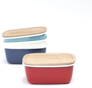 Chabatree - Small Rectangle Ovenware Containers - blue - Blue/White/Green