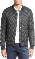 K-Way Men's Quilted Bomber Jacket
