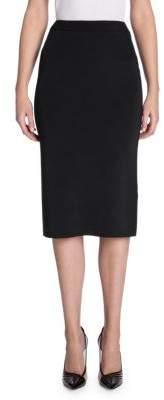 Giorgio Armani Rib Knit Pencil Skirt