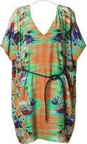 Matthew Williamson Rust Belted Kimono Dress