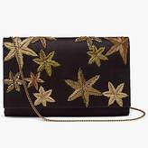 John Lewis Starr Envelope Clutch Bag, Black/Gold