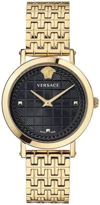 Versace Medusa Chain 37mm Watch in Yellow Gold | FWRD