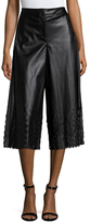 Opening Ceremony Laser Cut Faux Leather Culottes
