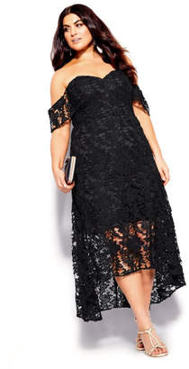 City Chic Entrancing Dress - black