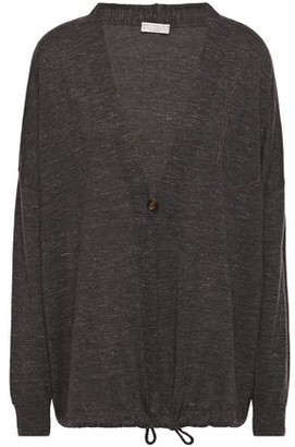 Brunello Cucinelli Bead-embellished Cashmere And Silk-blend Cardigan