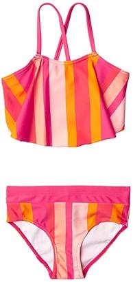 reima Bikinis Honolulu (Toddler/Little Kids/Big Kids) (Berry Pink) Girl's Swimwear Sets