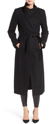 Kenneth Cole New York Fencer Melton Wool Maxi Coat
