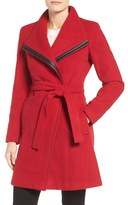 Calvin Klein Women's Wool Blend Wrap Trench