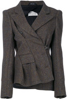 Maison Margiela boxy tweed jacket - women - Cotton/Cupro/Viscose/Virgin Wool - 40