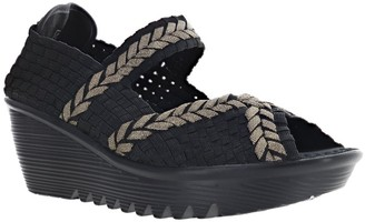 Bernie Mev. Pull-On Wedge Sandals - Braided Halle