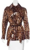 Dolce & Gabbana Silk Printed Rain Coat