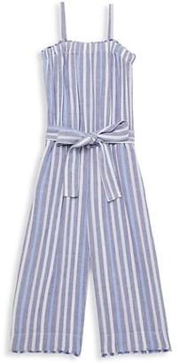 Bella Dahl Little Girl's & Girl's Frayed Stripe Jumpsuit