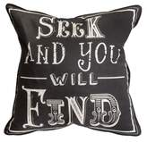 Graham & Brown Black Quote Cushion
