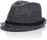 Hat Attack WOMEN'S KNIT SHORT-BRIM FEDORA-GREY