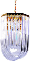 One Kings Lane Vintage Large Lucite Ribbon Chandelier w/ Canopy