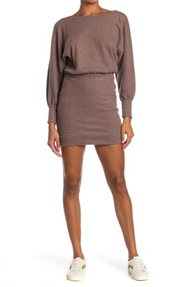 Lush Dolman Sleeve Sweater Dress