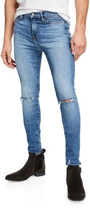 Frame Men's Jagger True Skinny Distressed Knee-Rip Jeans