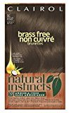 Clairol Natural Instincts, 5C Brass Free Medium Brown, Semi-Permanent Hair Color, 1 Kit (Pack of 3)