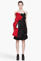 Comme des Garcons Black And Red Gathered Sleeveless Top
