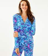 Lilly Pulitzer PJ Button Front Knit Ruffle Top