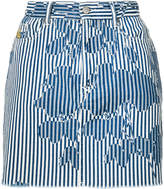 Vivienne Westwood rose stripe print denim mini skirt