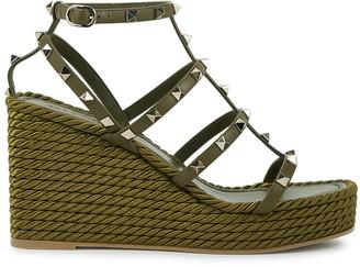 Valentino Garavani Torchon 95 Leather Wedge Sandals