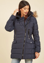 Taylor Fashion (Steve Madden) Central Parka Coat in Navy