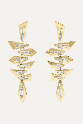 Stephen Webster Shattered 18-karat Gold Diamond Earrings - one size
