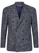 Canali Double Breasted Boucle Jacket