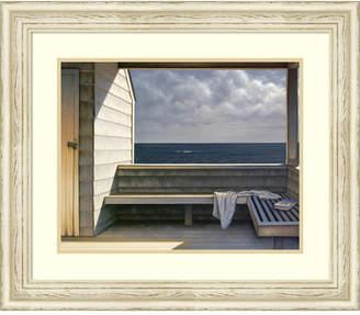 Amanti Art Sea Bench Framed Art Print
