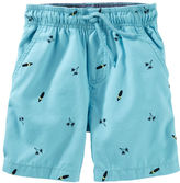 Osh Kosh Surf Print Pull-On Canvas Shorts