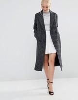 Helene Berman Double Breasted Coat in Navy Tweed